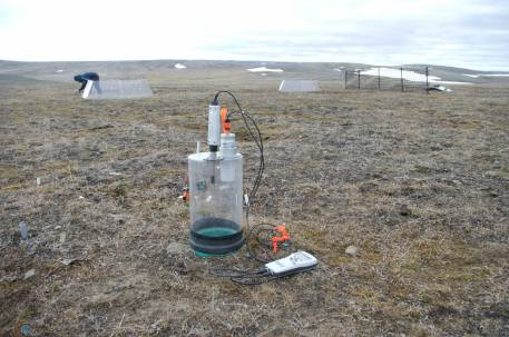 Portable chamber for measurements of CO2 and gas samples