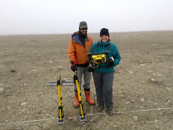 Ground penetrating radar (GPR) to map ground ice