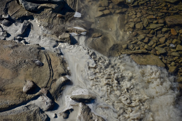RC2 (RTS outflow, 12 x 0535430; 8316035) meets Robin Creek, mixing zone RC3 (0535428; 8136041)